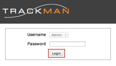 TrackMan WiFi login