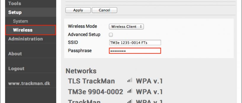 How To Change Your TrackMan IIIe WiFi Settings