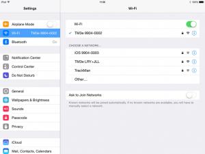 Connect iPad To TrackMan WiFi